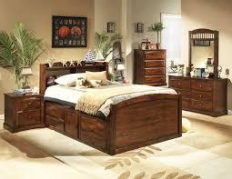 distressed cherry bedroom set he827