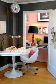 home office furniture round table little office set up