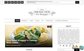 Food Blog Blogger Template Specially Made For Food Restaurant