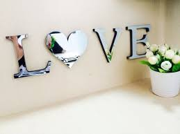 10cmx8cmx1 2cm thick wedding love letters home decoration english 3d mirror wall