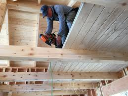 this was not a big deal but placement of those beams was crucial so your tongue and groove is fully supported