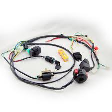 aliexpress com buy full electrics wiring harness coil cdi spark full electrics wiring harness coil cdi spark plug kits for 50cc 70cc 90cc 110cc 125cc 140cc