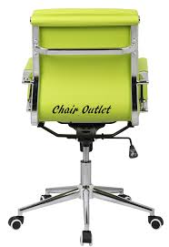 lime green office furniture. Lime Green Designer Soft Pad Computer Desk Contemporary Conference Boardroom Reception Charles Meeting Office Chair Furniture