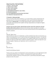 Format Of Official Letter For Request Sample Formal Canada