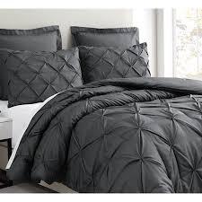 charcoal grey bedding. Modren Charcoal Estellar 3pc Charcoal Grey Comforter Set KingCalKing Size Pinch Pleat  Pattern Down Alternative Pintuck Bedding By Cozy Beddings  Walmartcom Inside D