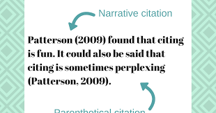 Demystifying Narrative Vs Parenthetical Citations