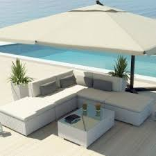 Uduka Outdoor Sectional Patio Furniture White Wicker Sofa Set Porto 6 Off  All Weather Couch D