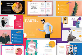 free template designs pastel free powerpoint template