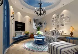 Beautiful Blue For Mediterranean House Interior Interior Design