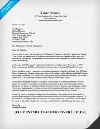 Sample Cover Letter For In A School Elementary Teacher Cover Letter Sample Writing Tips Resume