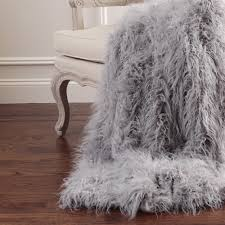 picture 4 of 11 fox fur throw blanket awesome faux rugs