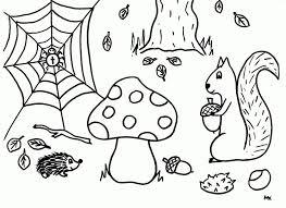 Kleurplaten Herfst Paddestoel Bizconnect Kleurplaat Herfst Dieren