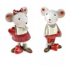 <b>Новогодняя</b> фигура <b>Monte Christmas</b> Мышка и любовь 10 см ...