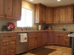 Kitchen Cabinets Knotty Cherry Lec Rustic Cabin Remodeling Style