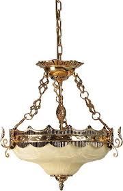 al masah crystal glass basin chandelier gold off white 50x40 centimeter