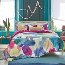 rothesay duvet cover abstract large scale fl bedding bluebellgray