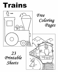 These train coloring pages to print will surely make things easier for both of you. Train Coloring Pages