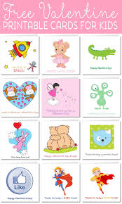 Printable Kids Printable Valentine Cards For Kids
