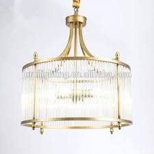 fashion modern gold plated round iron chandelier crystals glass rods pendant light for dinning room rod round wrought iron chandelier