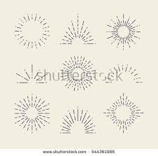 stock vector set of vintage sunbursts in different shapes trendy hand drawn retro bursting rays design elements 544361986 collection retro sunburst shapes your design stock vector on stage set design template