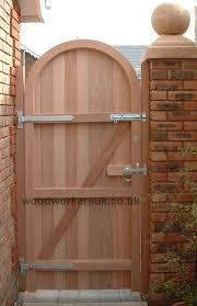 hardwood semi circular arched gates
