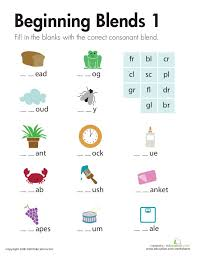 Fine Blends Worksheet For Kids A And An Worksheets Consonant ...