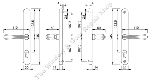 technical diagram for valencia lever lever handle