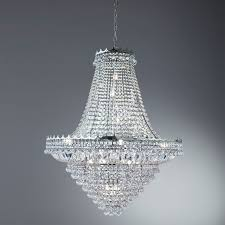 Silberner Kronleuchter Groß 19 Kerzen Kristall
