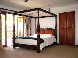 Twin Wood Canopy Bed Idea : Sourcelysis - Awesome Girls Twin Canopy Bed