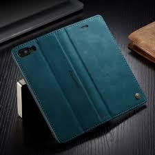iphone 6s plus wallet case iphone 6 plus case shockproof premium leather magnetic flip folio stand protective cover blue com