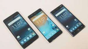 nokia 5 smartphone. from left to right: the nokia 6, 5, and 3 smartphones 5 smartphone