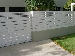 Fence Design Plans White Horizontal Fence Horizontal Grey Fence 16