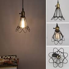 wire cage pendant light. Unique Design,vintage Style,giving Your Room A Really Fresh Urban Feel. Suitable For Bars, Cafe,home,etc. Vintage Style Lamp And Pendant Cage That Bring Wire Light R