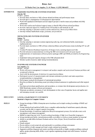 Mainframe Systems Engineer Resume Samples Velvet Jobs