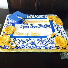 Graduation Sheet Cake Ideas 2015 With Grad Cap Scrolls Flowers And
