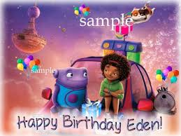Ebluejay Home The Movie Edible Birthday Cake Topper Icing Image