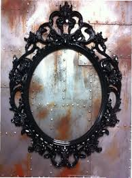 antique mirror frame tattoo. Unique Antique Gloss Black Skulls Oval Picture Frame Mirror Shabby Chic Baroque Gothic  Victorian Tattoo To Antique L