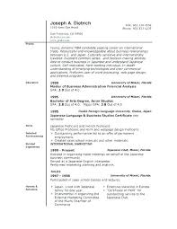 Simple Resume Templates Basic Outline Sample Format Free Resumes ...