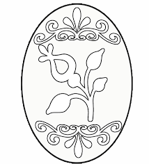 Easter Holiday Eggs Coloring Pages For