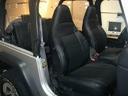 jeep wrangler tj sahara 1997 2002 black iggee s leather seat cover 249 00