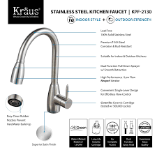 Review Of Kitchen Faucets Kraus Kpf 2130 Single Lever Stainless Steel Pull Out Kitchen