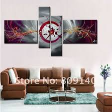 office canvas art. Office Canvas Art. Free Shipping Grey Purple Abstract Oil Painting High Quality Handmade Modern Art