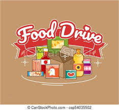 Food Drive Posters Food Drive Charity Movement Vector Illustration