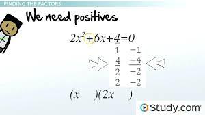 solving quadratic equations by factoring worksheet answers and solving quadratic by factoring lesson transcript cool