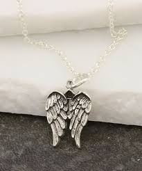 love this product sterling silver double wings pendant necklace