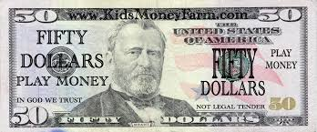 Fake Play Money Templates - KidsMoneyFarm.com