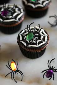 halloween spider cupcakes. Beautiful Spider Halloween Spider Cookies Made From A Chocolate Cupcake With Black And White  Frosting To Make Throughout Spider Cupcakes P