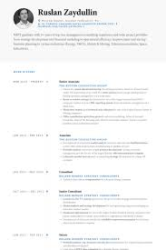 Senior Associate Resume Samples Visualcv Resume Samples Database