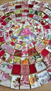 You are bidding on a stunning collection of 185 of hand cut mosaic tile  pieces of
