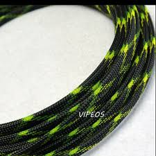 online buy whole green wire loom from green wire loom 10meter braided cable 8 15mm wiring harness loom protection sleeving black green